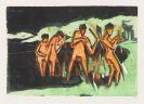 Kirchner, Ernst Ludwig - Mit Schilf werfende Badende