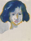 Emil Nolde - Mädchen mit blauem Haar