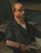 Meidner, Ludwig - Selbstporträt an der Staffelei