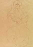 Klimt, Gustav - Im Lehnstuhl Sitzende von vorne