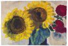 Nolde, Emil - Sonnenblumen und rote Blüten