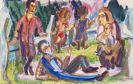 Ernst Ludwig Kirchner - Familie auf der Wiese