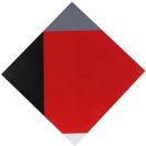 Max Bill - Rotes Quadrat in verwanderten Ecken