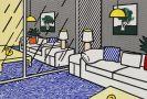 Lichtenstein, Roy - Wallpaper with Blue Floor Interior