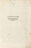 Tortellius, Johannes - Orthographia. 1501