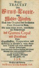 Filippo Buonanni - Tractat von Firniß- Laquir- und Mahler-Künsten