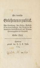 Klopstock, Friedrich Gottlieb - Die deutsche Gelehrtenrepublik. 1774