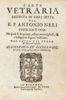 Neri, Antonio - L'Arte Vetraria