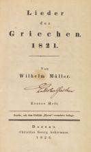 Müller, Wilhelm - Lieder der Griechen