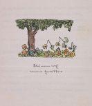 Hermann Hesse - Gedichttyposkript mit Aquarell
