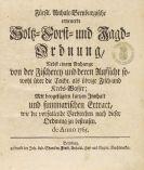 - Anhalt-Bernburgische Holtz- Forst- und Jagdordnung