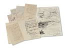 Wilhelm Kuhnert - 5 Autographen und eine Zeichnung an Hans Meyer