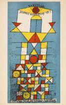 Paul Klee - Postkarte Bauhaus-Ausstellung 1923