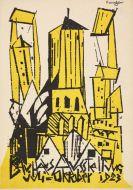 Lyonel Feininger - Postkarte Bauhaus-Austellung