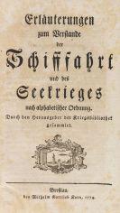 Georg Dietrich von der Groeben - Erläuterungen zum Verstande der Schifffahrt