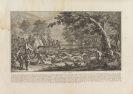 Johann Elias Ridinger - Parforce Jagd des Hirschen