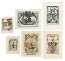 Heinrich Vogeler - Sammlung 39 Exlibris (13 signiert). - Dabei: 1 Exlibris H. Kollwitz