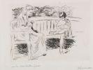 Max Liebermann - Wärterin mit Kind auf einer Gartenbank