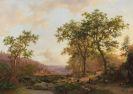 Frederik Marinus Kruseman - Weite Landschaft im Abendlicht