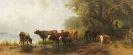 Friedrich Voltz - Kühe an einem See