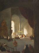 Johann Moritz Rugendas - Innenansicht der Kathedrale von Lima