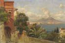 Carl Wuttke - Golf von Neapel mit Blick auf Castel dell'Ovo und den Vesuv