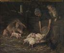 Max Liebermann - Die Wochenstube - Schweinekoben