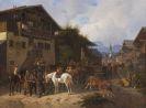 Schelver, August Franz - Pferdemarkt in Partenkirchen