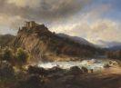 Carl Millner - Isartal mit Burg Schwaneck