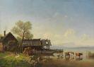 Bürkel, Heinrich - Der Starnberger See mit Blick auf das Wettersteingebirge