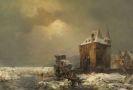 Hilgers, Carl - Eisfischer am Wasserschloss