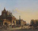 Cornelis Springer - Sommerliche Stadtansicht