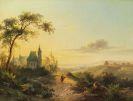 Frederik Marinus Kruseman - Landschaft von Chaillot bei Fontainebleau
