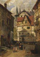 Wille, Fritz von - Städtchen in der Eifel