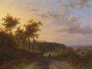 Johann Bernhard Klombeck - Landschaft mit Spaziergängern