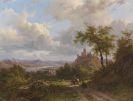 Johann Bernhard Klombeck - Landschaft mit Burg