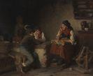 Franz von Defregger - Die Märchenerzählerin