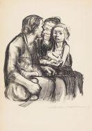Käthe Kollwitz - Zwei schwatzende Frauen mit zwei Kindern