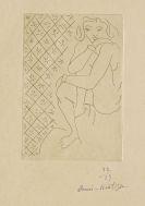 Henri Matisse - Nu assis, fond de carreaux étoilés