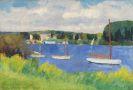 Friedrich Ahlers-Hestermann - Segelboote auf der Seine