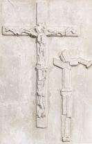 Fritz Wotruba - Relief mit zwei Kruzifixdarstellungen