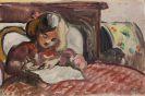 Louis Valtat - Enfant écrivant