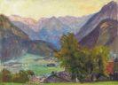 Otto Modersohn - Blick ins Ostrachtal mit Hintersteiner Bergen