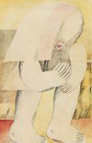 Antes, Horst - Figur nach rechts mit Rose