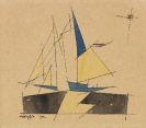 Lyonel Feininger - Ohne Titel (Segelboot)