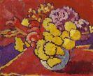 Louis Valtat - Fleurs jaunes, draperie rouge