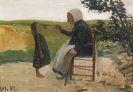 Otto Modersohn - Dreebeen mit Mädchen