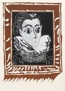 Pablo Picasso - Portrait de Jacqeline à la fraise (La Dame à la Collerette)