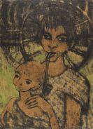 Mueller, Otto - Zigeunermadonna (Zigeunerin mit Kind vorm Wagenrad)