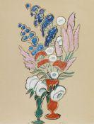 Gabriele Münter - Blumenstillleben mit roter und grüner Vase